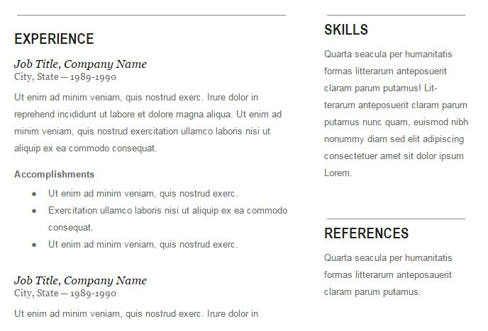 Job Resume Format Free Builder Templates Google Docs  BrianhansMe