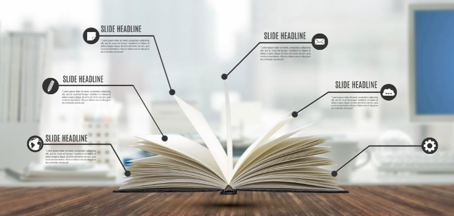 prezi template library - by the book presentation template sharetemplates