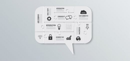communicate-cloud-service-icons-puzzle-mind-think-good-idea-presentation-templte