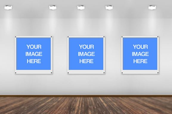 Image gallery wall mockup template sharetemplates for Wall art templates free