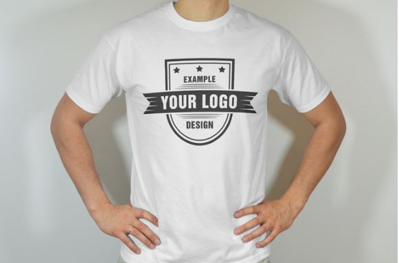 Men 39 s t shirt round neck front view mockup template for Mockup generator t shirt