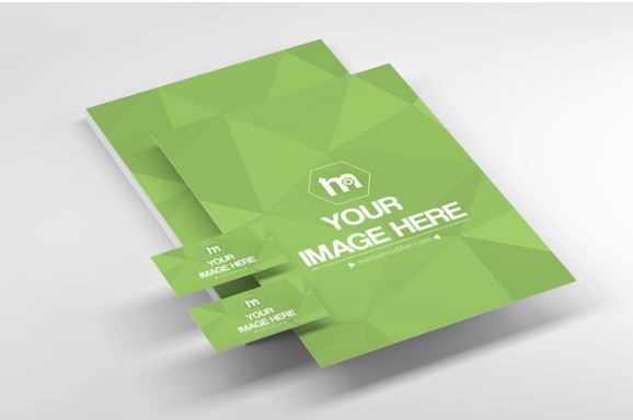 A4 papers business cards mockup generator sharetemplates a4 papaers business cards mockup generator online card reheart Images