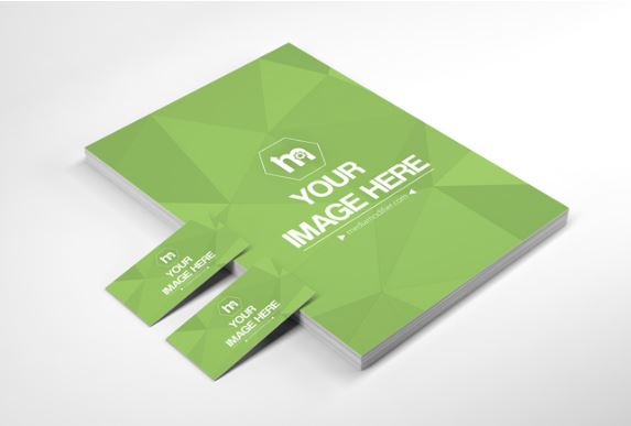 Stack of papers and business cards mockup generator sharetemplates stack of papers and business cards mockup generator reheart Images