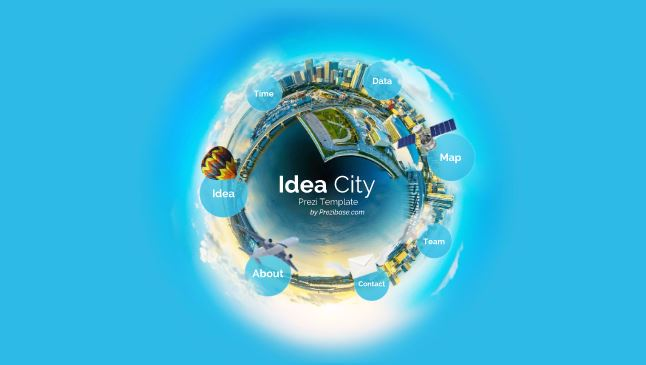 idea city – prezi template | sharetemplates, Presentation templates