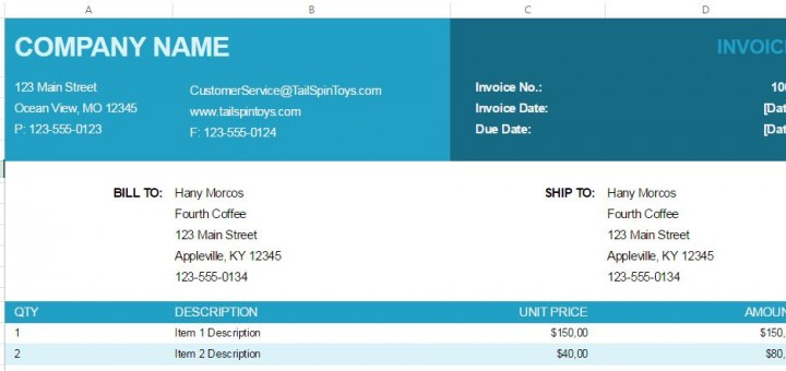 Free excel invoice template sharetemplates free excel invoice template saigontimesfo