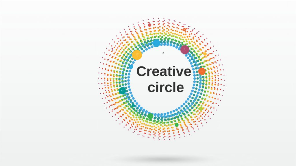 animated colorful 3d prezi template with motion circles sharetemplates