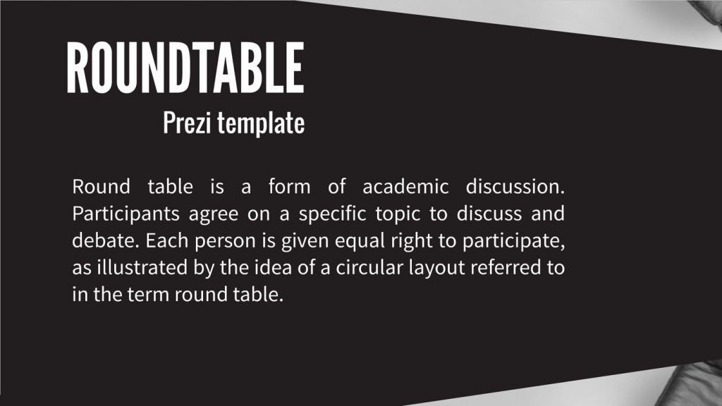 round table presentation template