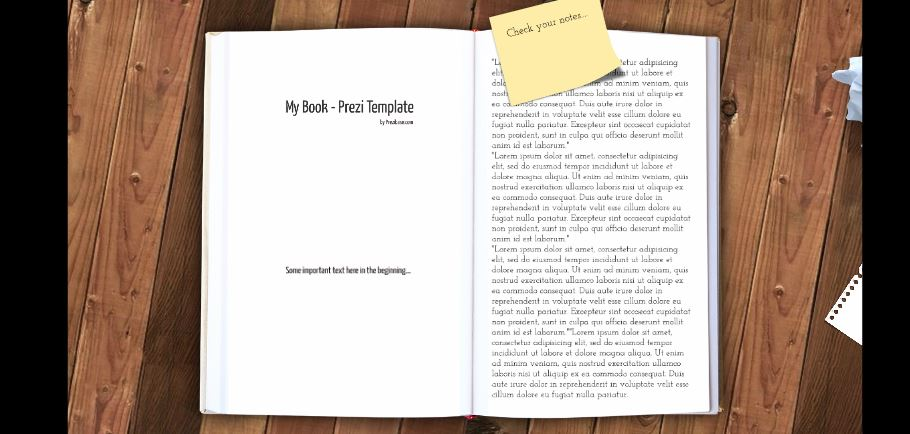 my book presentation template sharetemplates