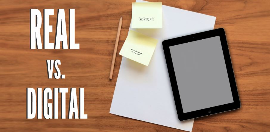 real vs digital presentation template