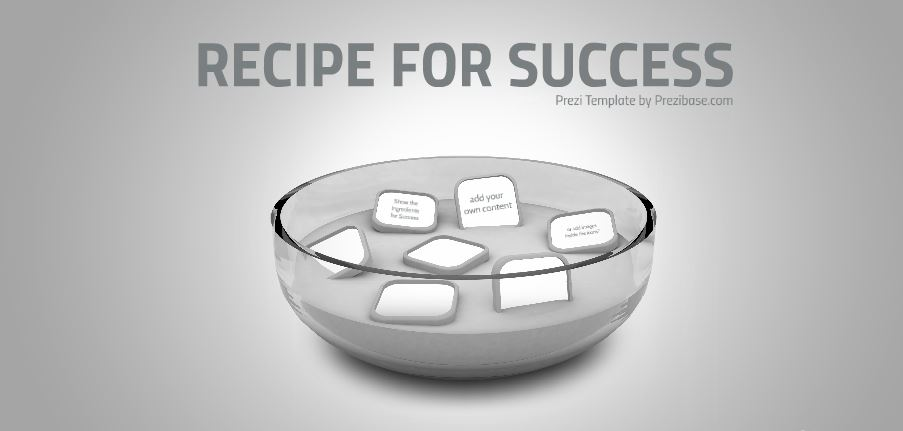 the recipe for success presentation template