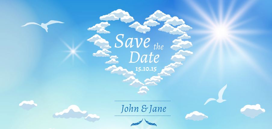 save the date presentation template