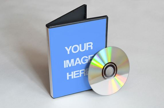 Dvd Cover Mockup Template Cd Player Cartoons Online