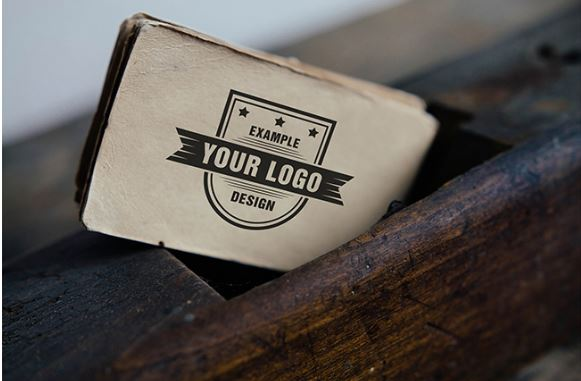 Logo on old business card online mockup template sharetemplates logo on old business card online mockup logo reheart Image collections