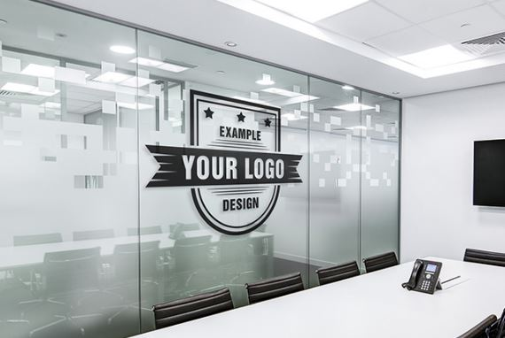 Office board room online logo mockup template sharetemplates for Create a room online free