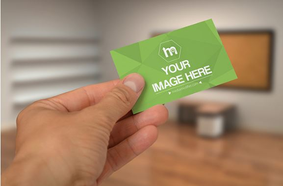 Business card in hand mockup template sharetemplates business card in hand mockup generator mockup make reheart Image collections