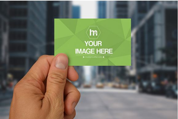 Business card on city background mockup sharetemplates business card on city background mockup big city colourmoves
