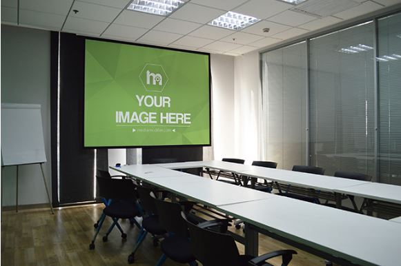 projector display in a meeting room template