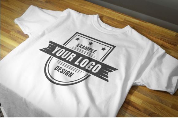 free realistic t shirt front view closeup mockup template
