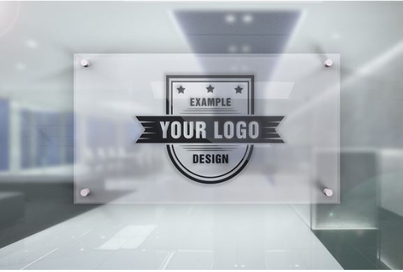 logo on office door glass plate effect template sharetemplates. Black Bedroom Furniture Sets. Home Design Ideas