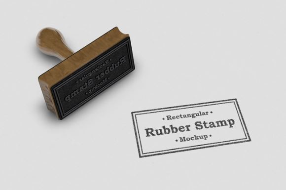 realistic rectangular rubber stamp logo mockup template sharetemplates
