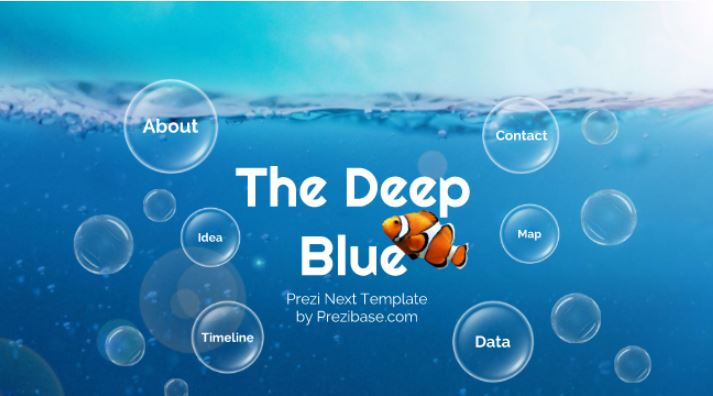 deep blue  u2013 prezi template