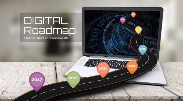 digital roadmap  u2013 prezi template