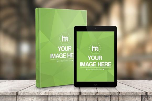 Hardcover And Ebook With Ipad Online Mockup Generator