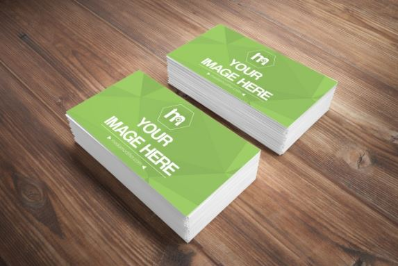 Stack of business cards on wood surface mockup sharetemplates stack of business cards on wood surface mockup colourmoves