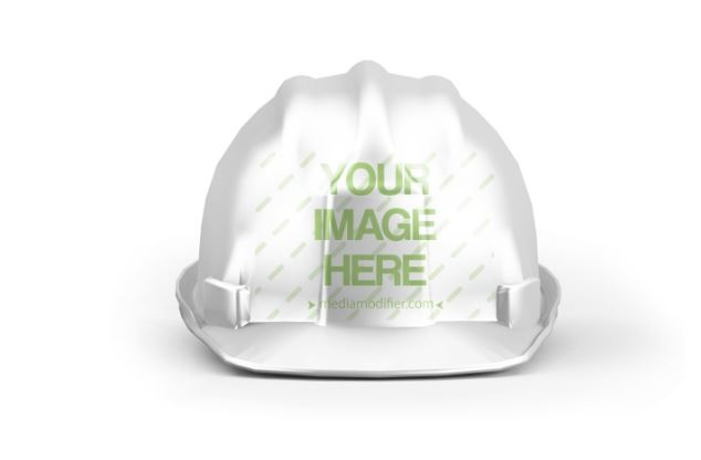 54e29194188 Safety Hat Front View Mockup Generator